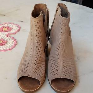 Tom's faux suede mesh heels size 7.5w